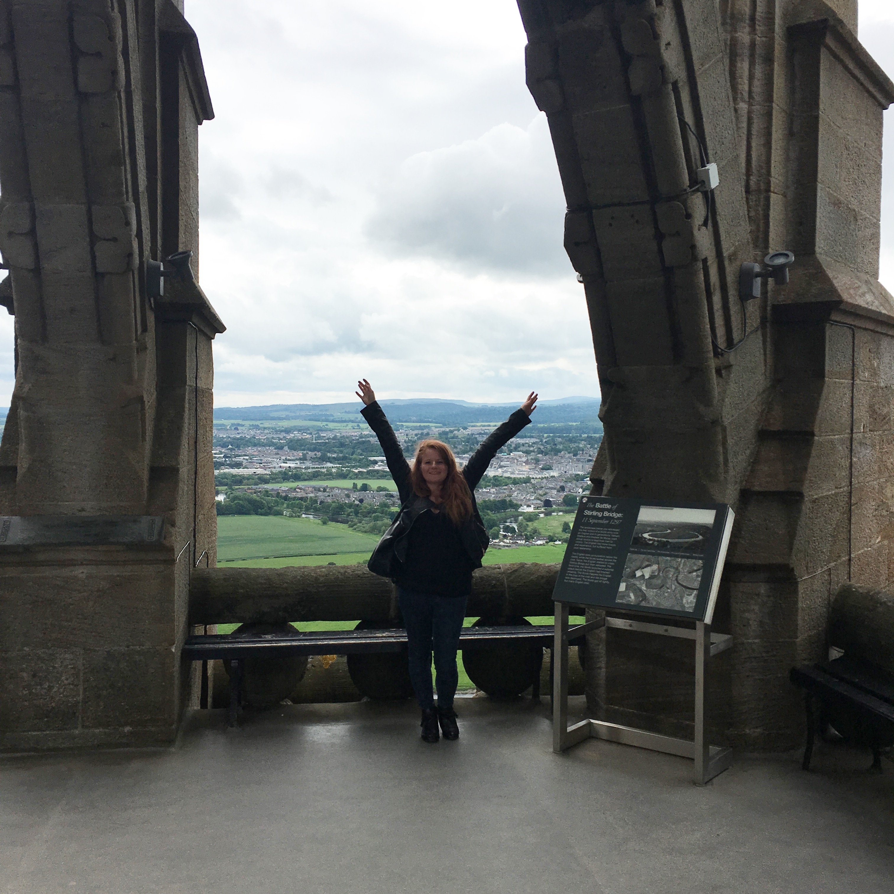 Me, at the top of the Wallace Monument.